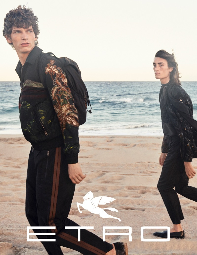 Etro enlists Erik Van Gils and Niko Traubman as the stars of its spring-summer 2019 campaign.