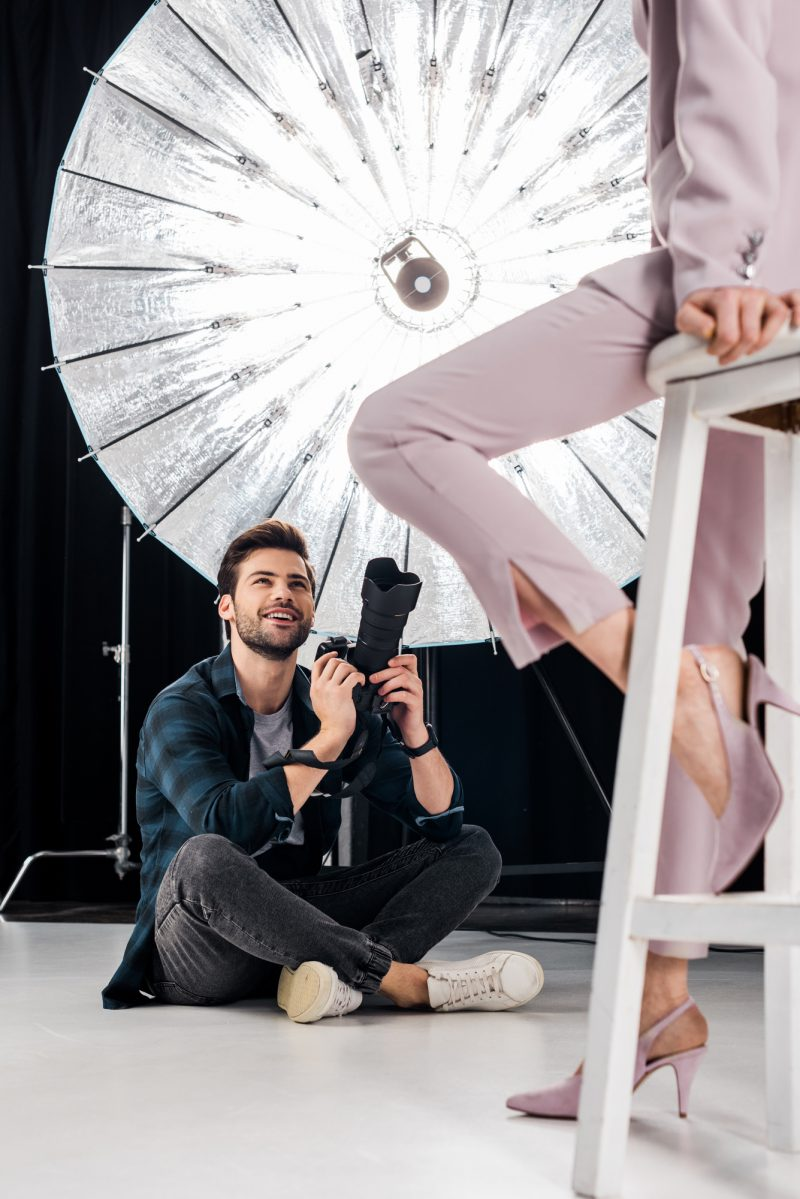 Fashion Photographer Working Behind the Scenes