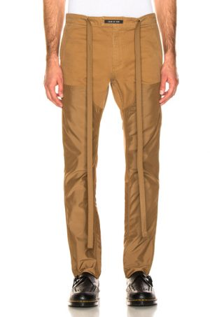 Fear of God Nylon Double Front Work Pant in Brown,Neutral. - size L (also in S,M,XL)