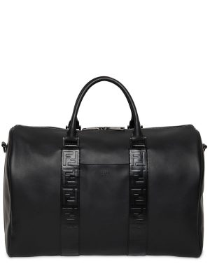 Ff Embossed Leather Duffle Bag