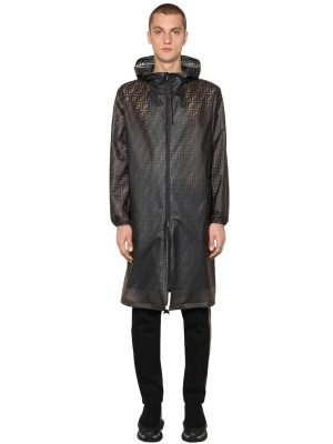 Ff Printed Transparent Pvc Rain Coat