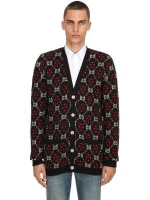 Gg Supreme Wool & Alpaca Knit Cardigan