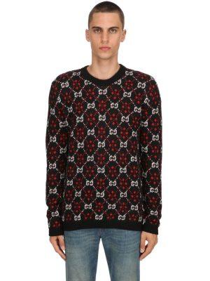 Gg Supreme Wool & Alpaca Knit Sweater
