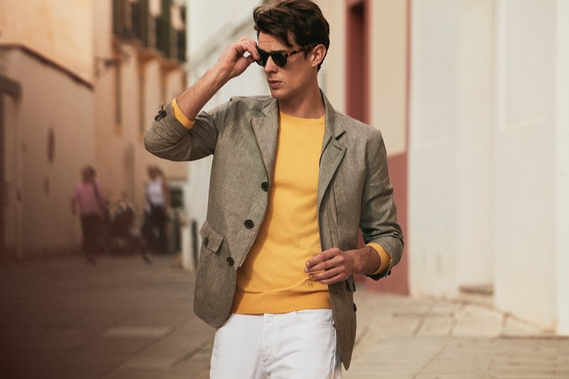 Lewis Jamison fronts Gieves & Hawkes' spring-summer 2019 campaign.