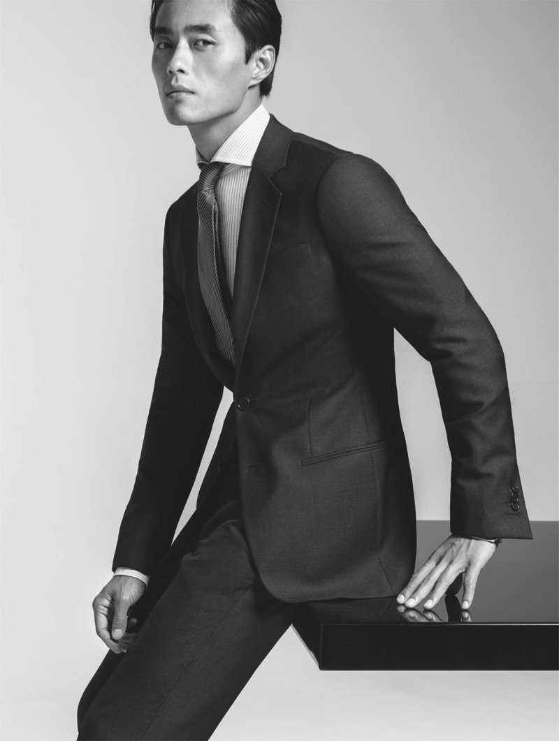 Zhao Lei stars in the spring-summer 2019 Giorgio Armani Made to Measure campaign.