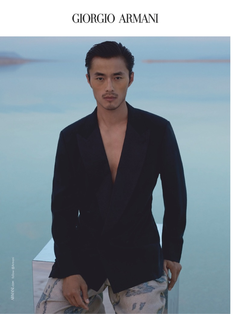 Front and center, Zhao Lei stars in Giorgio Armani's spring-summer 2019 campaign.