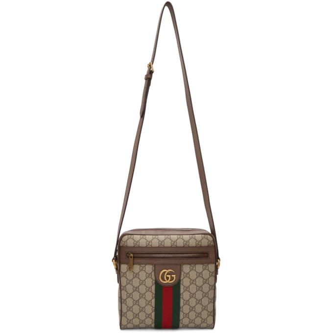 cf243212ec0c Gucci Beige GG Supreme Small Ophidia Messenger Bag | The Fashionisto