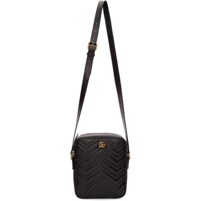 e3128dca1 Gucci Black GG Marmont Messenger Bag | The Fashionisto