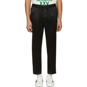 Gucci Black Logo Band Trousers