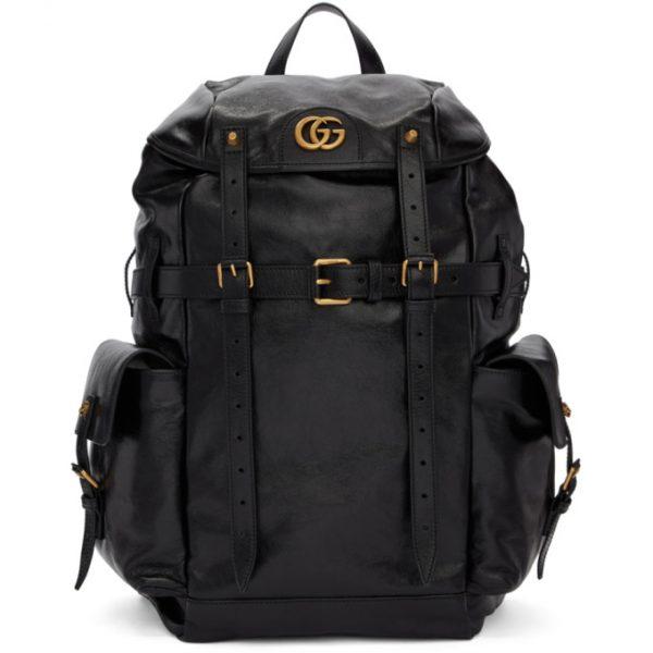 Gucci Black Multi Pocket Flap Backpack