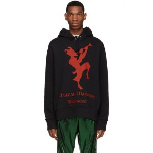 Gucci Black and Red Chateau Marmont Hoodie
