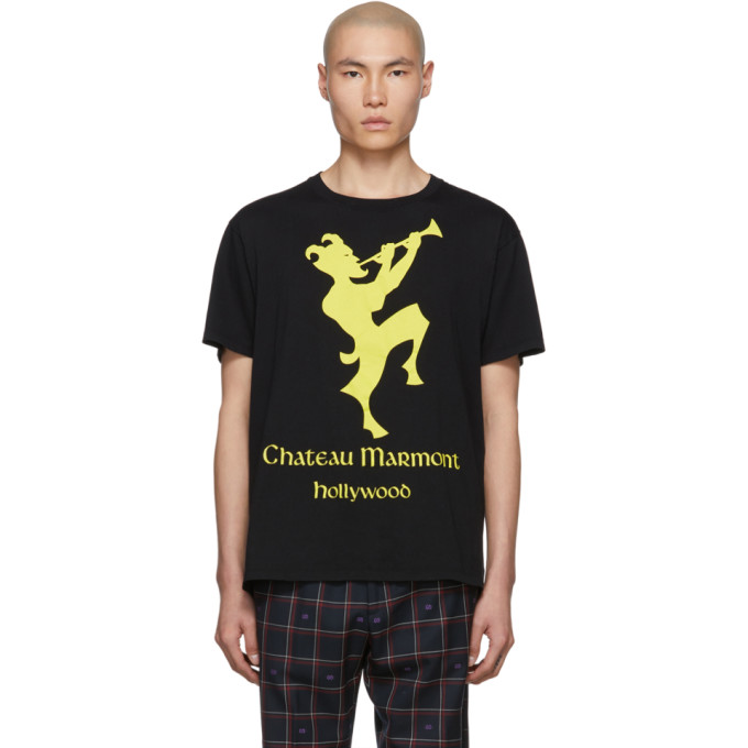 be74af4f88ba2b Gucci Black and Yellow Chateau Marmont T-Shirt | The Fashionisto