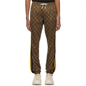 Gucci Brown GG Striped Lounge Pants