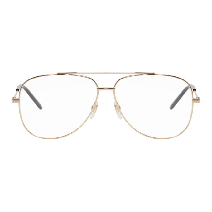 b4983e86a1a Gucci Gold Metal Round Glasses