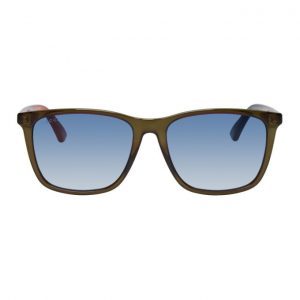 Gucci Green Rectangular Sunglasses