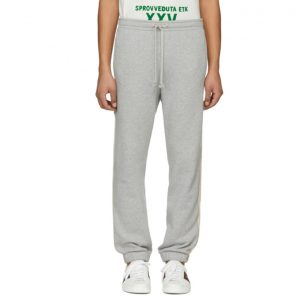 Gucci Grey Logo Band Sweatpants