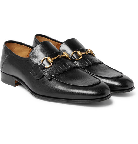 827ea21e4e6 Gucci – Harbor Horsebit Fringed Leather Loafers – Men – Black