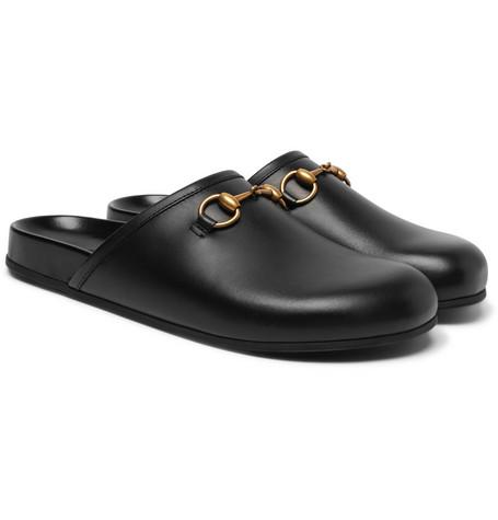 Gucci - Horsebit Leather Sandals - Men - Black