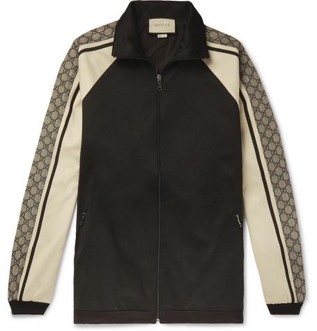 7421aa10a Gucci – Logo Striped Tech-Jersey Track Jacket – Men – Black