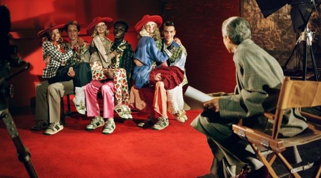 Alexis Sundman, Delphi Mcnicol, Emmanuel Adjaye, Unia Pakhomova, and William Valente front Gucci's spring-summer 2019 campaign.
