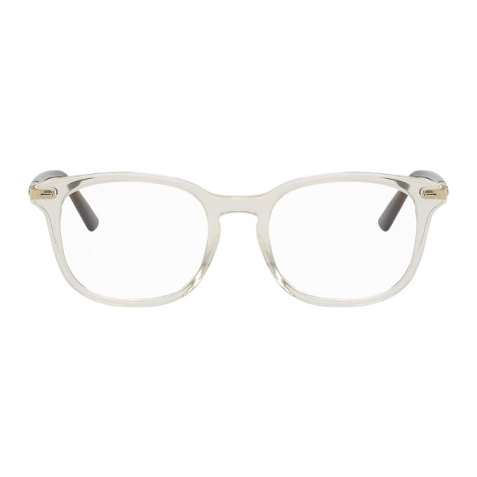 fafbbf3e1dce Gucci Yellow and Tortoiseshell Stripe Glasses   The Fashionisto