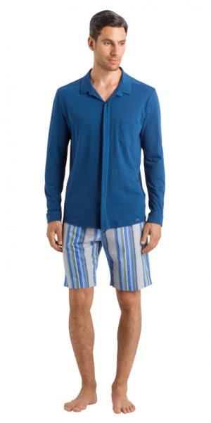 HANRO (75646) Luca L/SLV Shirt - Dark Sea S