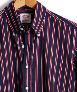 Hamilton + Todd Snyder Regent Stripe Shirt in Navy