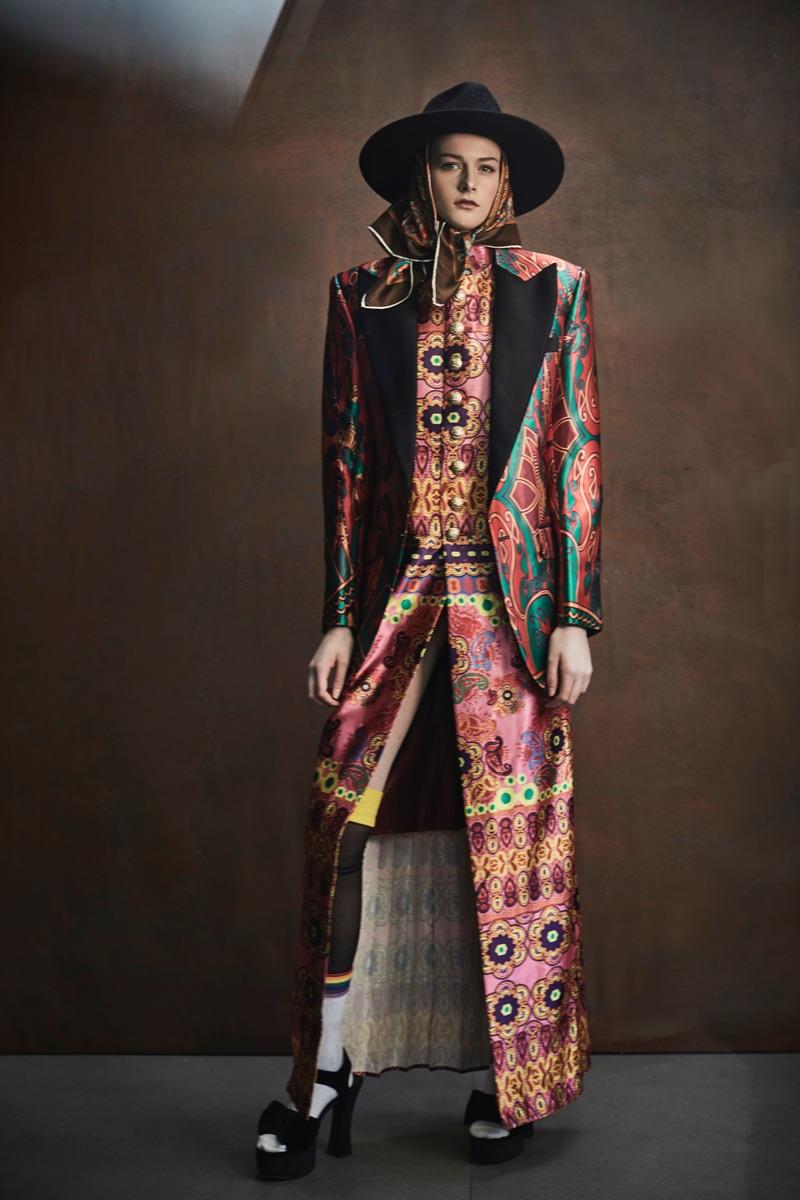 Harmony Brobin models a menswear-inspired look by Helen Anthony.