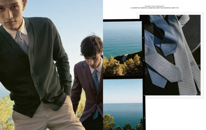 Zhang Wenhui and Oscar Kindelan sports classic accessories by Hermès.