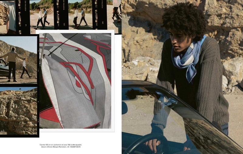 A chic vision, Kaissan Ibrahima dons a Hermès scarf.