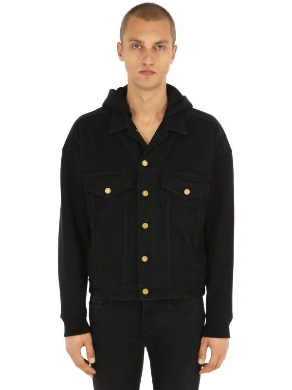 Hooded Cotton Trucker Jacket