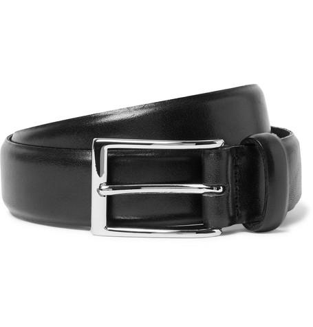 J.Crew - 3cm Black Glossed-Leather Belt - Men - Black
