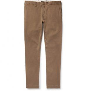 J.Crew - 484 Slim-Fit Stretch-Cotton Twill Chinos - Men - Brown