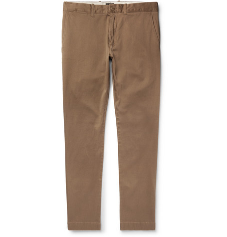 J.Crew - 484 Slim-Fit Stretch-Cotton Twill Chinos - Men - Brown