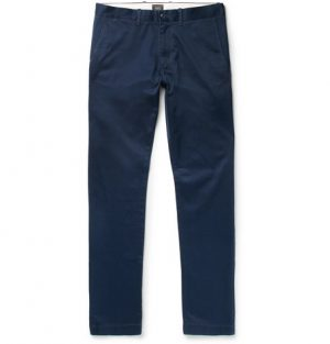 J.Crew - 484 Slim-Fit Stretch-Cotton Twill Chinos - Men - Navy