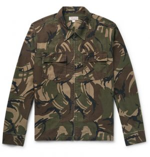 J.Crew - Camouflage-Print Cotton-Canvas Shirt Jacket - Men - Army green