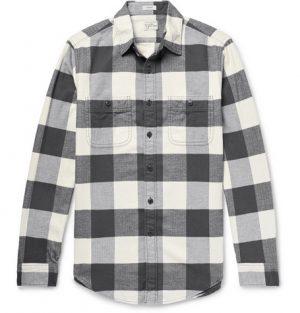 J.Crew - Checked Cotton-Flannel Shirt - Men - Dark gray
