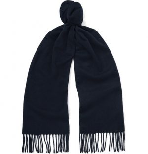 J.Crew - Fringed Cashmere Scarf - Men - Navy
