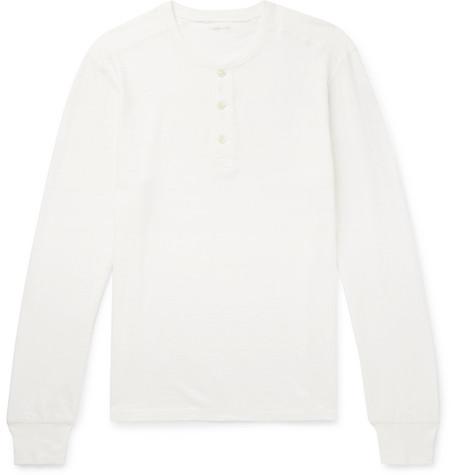 J.Crew - Garment-Dyed Slub Cotton-Jersey Henley T-Shirt - Men - White