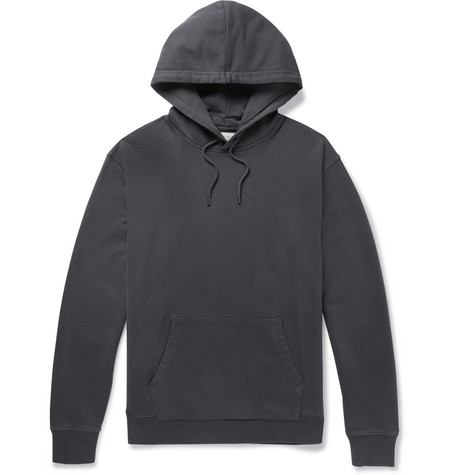J.Crew - Loopback Cotton-Jersey Hoodie - Men - Dark gray