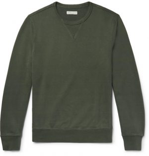 J.Crew - Loopback Cotton-Jersey Sweatshirt - Men - Dark green