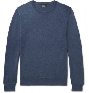 J.Crew - Mélange Cashmere Sweater - Men - Storm blue