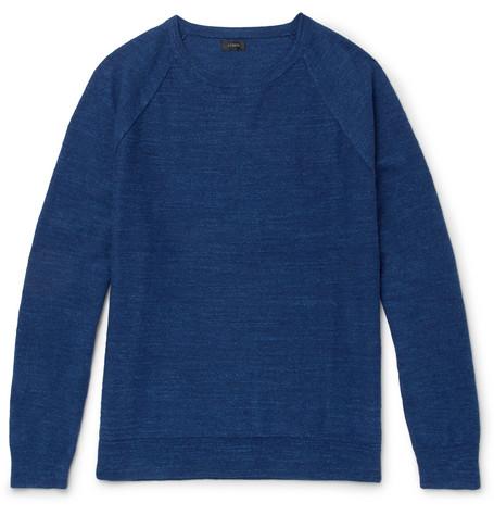 J.Crew - Mélange Cotton-Jersey Sweater - Men - Indigo