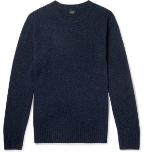 J.Crew - Merino Wool-Blend Sweater - Men - Navy