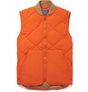 J.Crew - Nordic Quilted Shell Gilet - Men - Orange