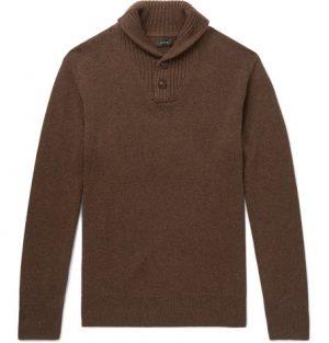 J.Crew - Shawl-Collar Merino Wool-Blend Sweater - Men - Brown