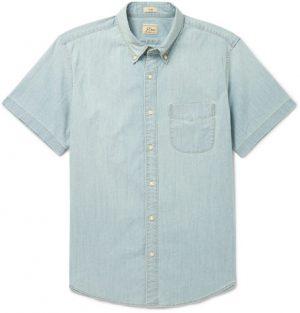 J.Crew - Slim-Fit Cotton-Blend Chambray Shirt - Men - Indigo