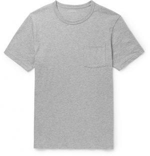 J.Crew - Slim-Fit Garment-Dyed Mélange Cotton-Jersey T-Shirt - Men - Gray