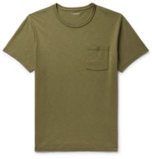 J.Crew - Slim-Fit Garment-Dyed Slub Cotton-Jersey T-Shirt - Men - Army green