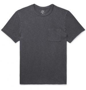 J.Crew - Slim-Fit Garment-Dyed Slub Cotton-Jersey T-Shirt - Men - Charcoal